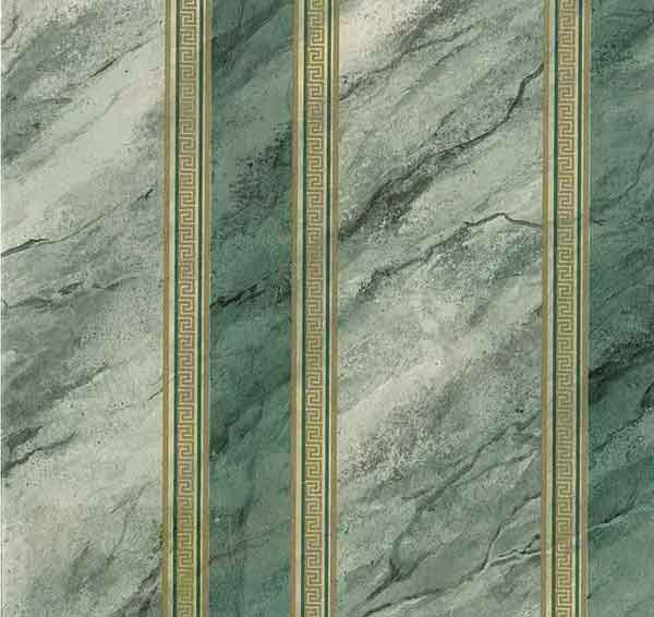 Green Marble Vintage Wallpaper Gold Faux Rosedale