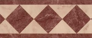 pink marble vintage wallpaper, faux finish, maroon-brown, geometric, diamonds, triangles, contemoraru, modern, arts & crafts