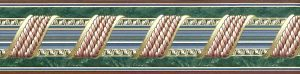 wallpaper border rope tassel, blue, green, red, bedroom, study, dining room, classic, traditional