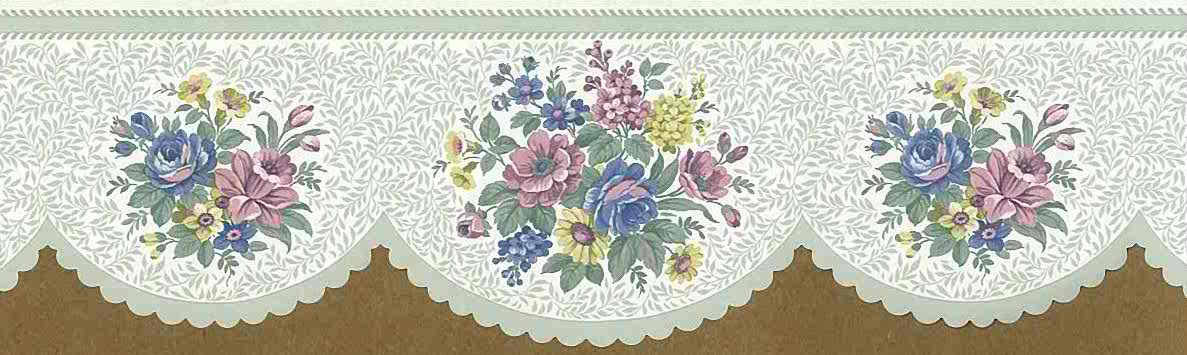 Summer Floral Vintage Wallpaper Border