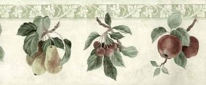 Plums Pears Vintage Wallpaper Border