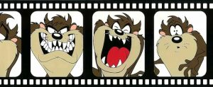 Looney Tunes kids wallpaper border, brown, beige, white, bladk, self-adhesive