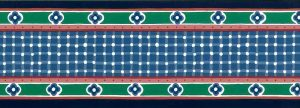 vintage Waverly wallpaper border,blue, green, red, pink, white, modern, contemporary, cottage