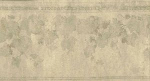 taupe glazed wallpaper border,ivy, leaves,faux finish