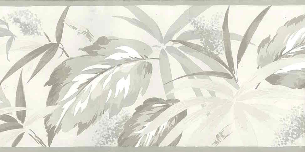 palm leaves vintage border, embossed, gray, taupe, tropical, cottage, beach house, leaves, nature