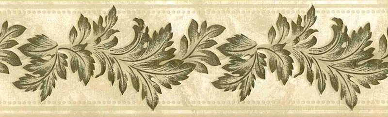 Vintage Wallpaper Border Gold Leaves Uk 92219 Free Ship