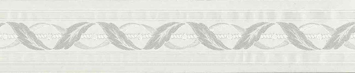 Waverly satin vintage border, glazed, textured, cream, scroll