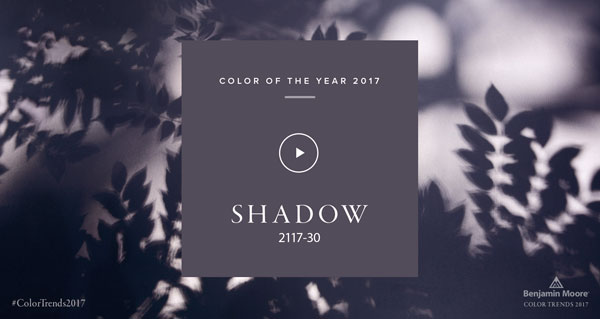 Benjamin Moore 2017 Color of the Year: Shadow