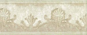 Nautical Ivory Shells Wallpaper Border in Cream