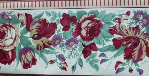 Waverly Floral vintage Wallpaper Border: color of love