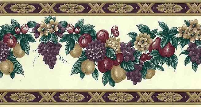 Fruit Wallpaper Border, Fruit Swag Garland
