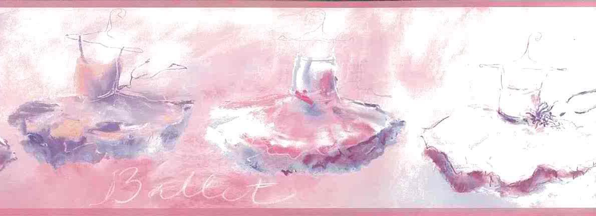 Ballet Wallpaper Border Girls Pink Purple Yk0166b