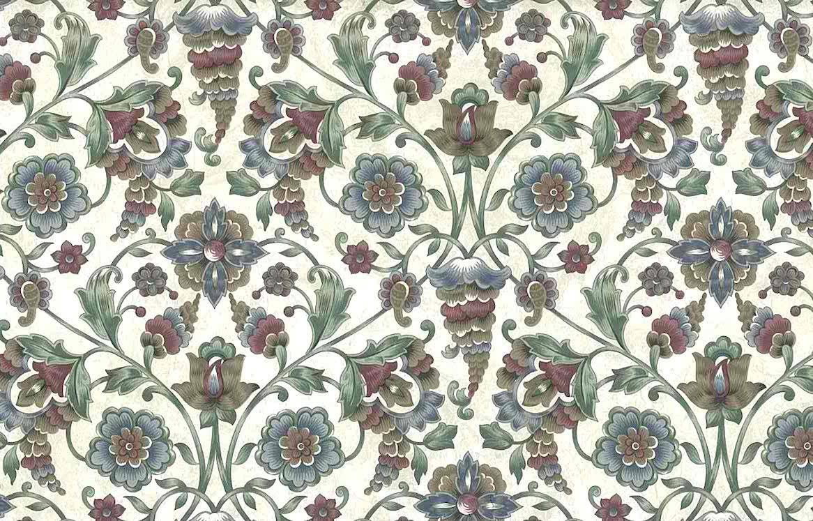 paisley vintage wallpaper red,blue,silver