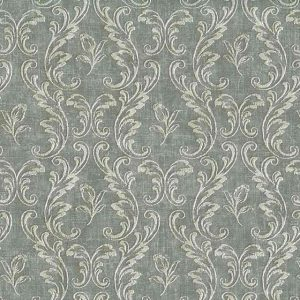 damask wallpaper gray white, scrolls, dining room, living room, bedroom, textured