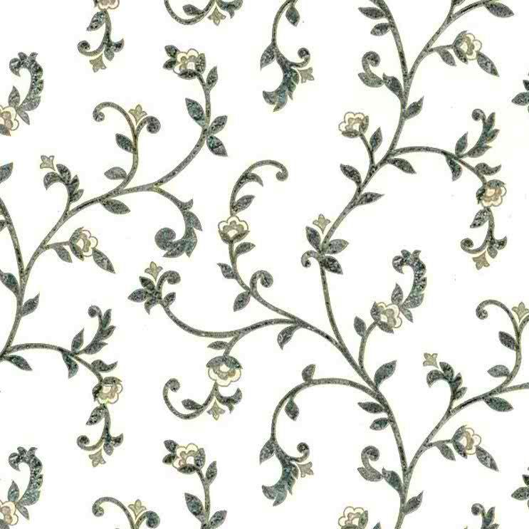 green scroll vintage wallpaper, gold, metallic, traditional, textured