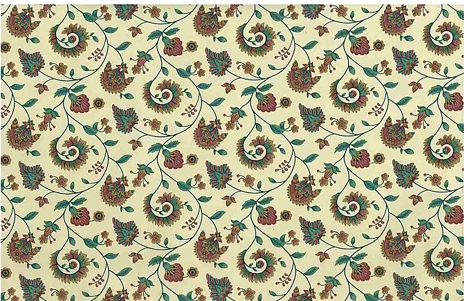 paisley vintage wallpaper floral, teal, rose, lavender, cream, floral, stylized flowers