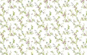 Roses cottage floral vintage wallpaper, lavender, green, blue, cream, faux finish