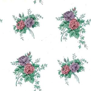 roses bouquet vintage wallpaper, pink, rose, lavender, purpe, off-white, coittage style