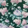 Green Floral Vintage Wallpaper Alternate