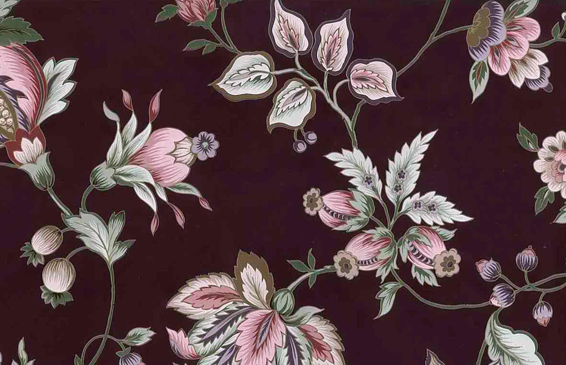 Black Vintage Floral