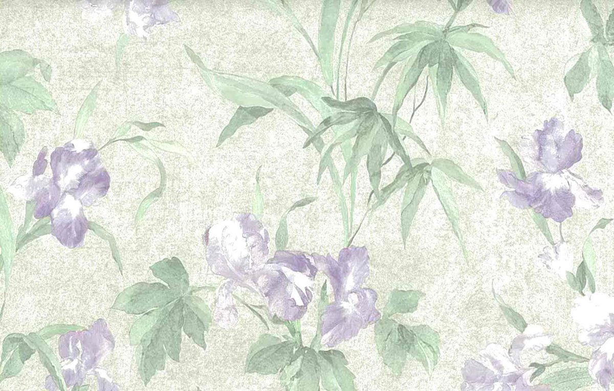 Iris vintage wallpaper,purple,green,textured