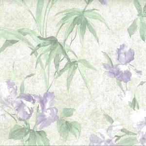 Iris vintage wallpaper,purple,green,textured