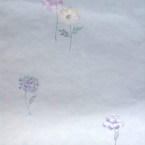 Pastel floral vintage wallpaper,pink blue, yellow, purple, faux finish