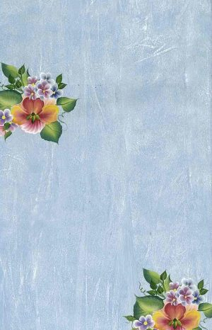 Hibiscus Tropical Flower Vintage Wallpaper, Blue Faux Finish