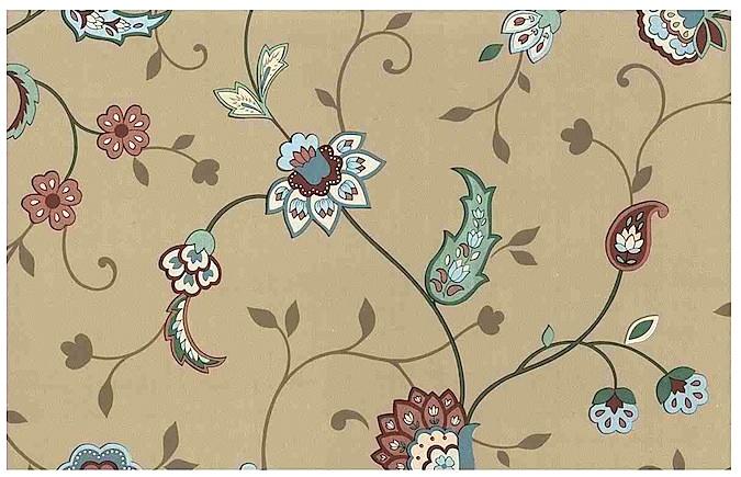 Vintage Floral Paisley Wallpaper
