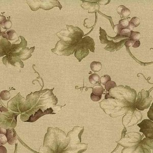 kitchen wallpaper red grapes, vines, beige, faux finish, taupe, brown, dining room, green, vines, leaves