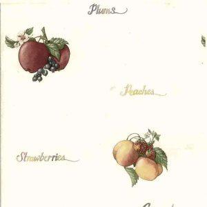 script vintage wallpaper apples grapes plums