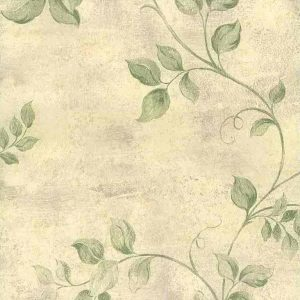 green leaves vintage wallpaper, beige, cream, faux finish, textured, dining room, bedroom, nature, botanical, UK
