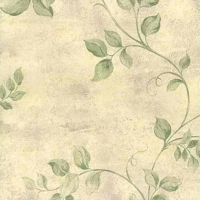 green leaves vintage wallpaper, beige, cream, faux finish, textured, dining room, bedroom, nature, botanical, UK