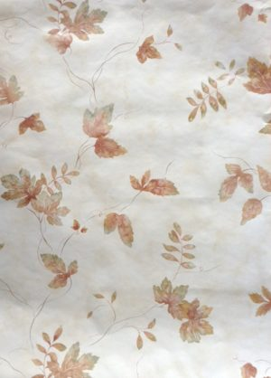 Fall leaves vintage wallpaper,brown, green, cream, maple, oak, beech