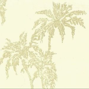 Cream embossed leaves wallpaper,textured