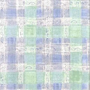 Green Plaid Vintage Wallpaper