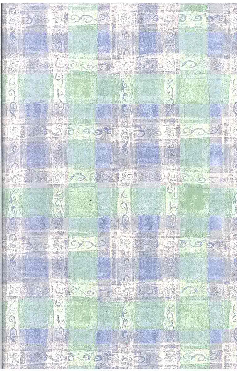 Green Plaid Vintage Wallpaper Blue Pink Off White Hm6607 D Rs