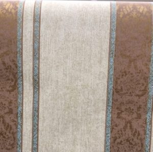 striped wallpaper brown damask, beige, blue, glazed, faux finish, living room, dining room, study