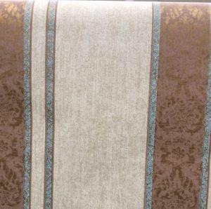 striped wallpaper brown damask, beige, blue, glazed, faux finish, living room, dining room, study