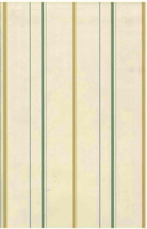 Yellow striped vintage wallpaper,green, blue, off-white