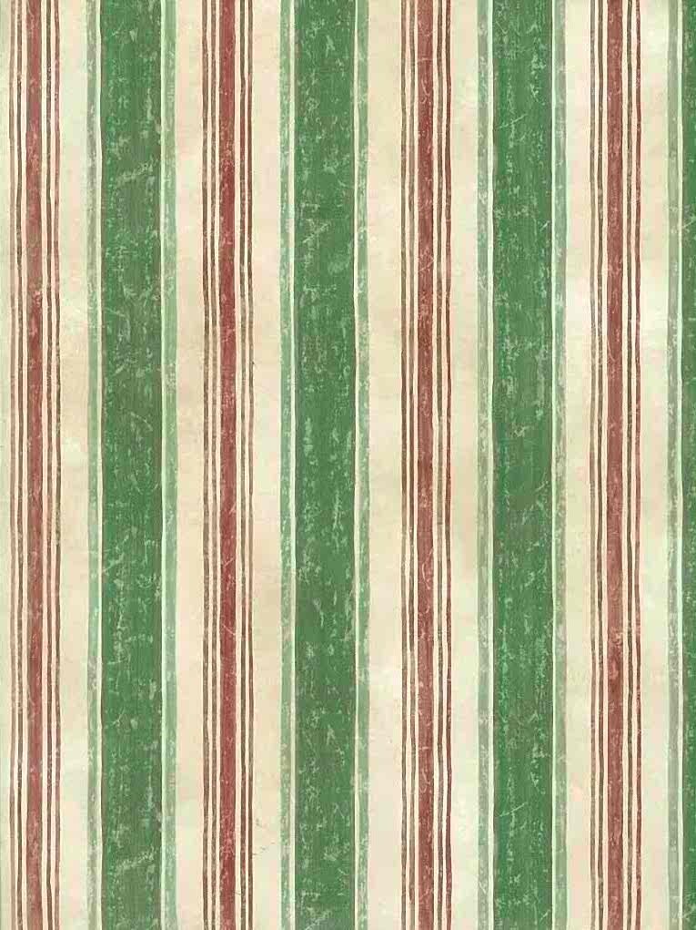 Green Striped Vintage Wallpaper Red Cream 7055 070 D Rs