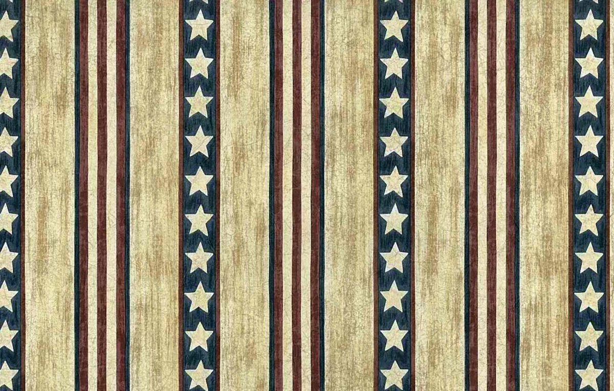 Stars Stripes Vintage Wallpaper