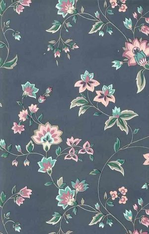 Waverly Vintage floral wallpaper, gray, pink, green, paisley, taupe, English cottage style