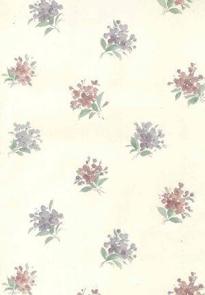 Victorian vintage wallpaper, floral, nosegayu, pink, lavender, cream, textured