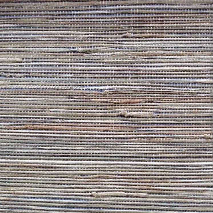 Wallpaper natural grasscloth blue beige, textured, study, foyer