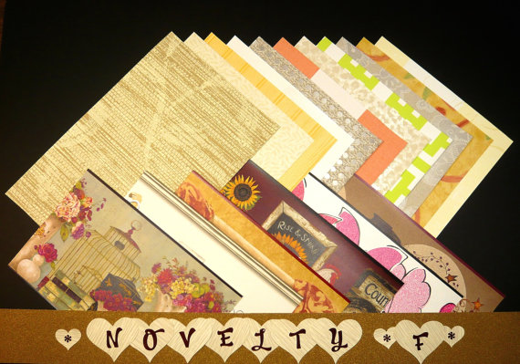 Novelty -Feminine Off-the-Wall Love Bunch Wallpaper Sheet Packs for Crafts & Scrapbooking