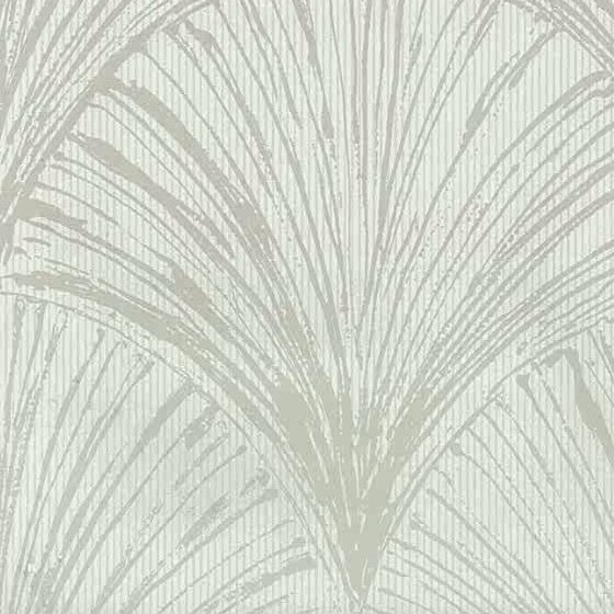 Fans vintage wallpaper, gray, greige taupe, dining room, bedroom, study, modern, contemporary
