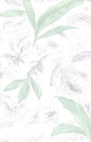 leaf embossed vintage wallpaper, glazed, green, pink, nature, botanical, Asian