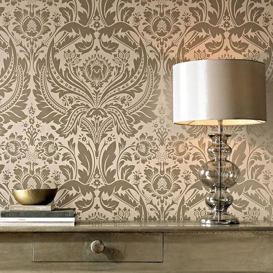Metallic wallpaper silver, gold, copper, bronze