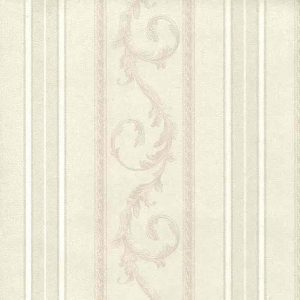 Cream striped swirl wallpaper, cream, textured, Italy, dining room, foyer,
